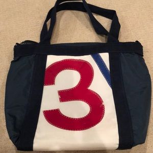Re-Sails numbered tote sailcloth tote bag!